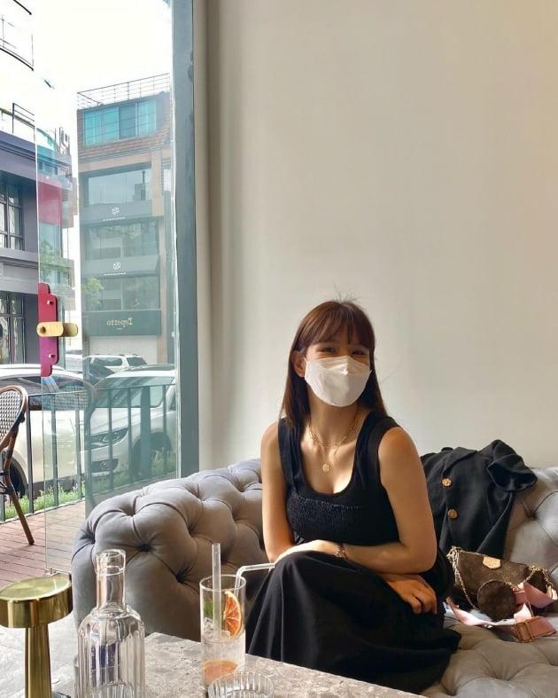"""'임신' 애프터스쿨 정아, ♥정창영은 어디 두고 """"신랑 없이 나오니 이상해"""" [TEN★]"""