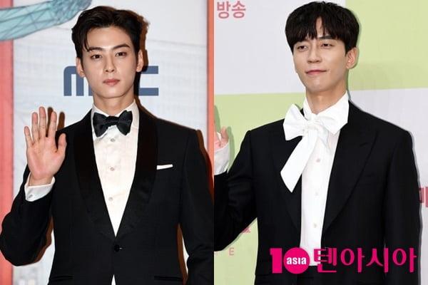 가수 차은우(왼쪽), 배우 신성록/ 사진=텐아시아DB