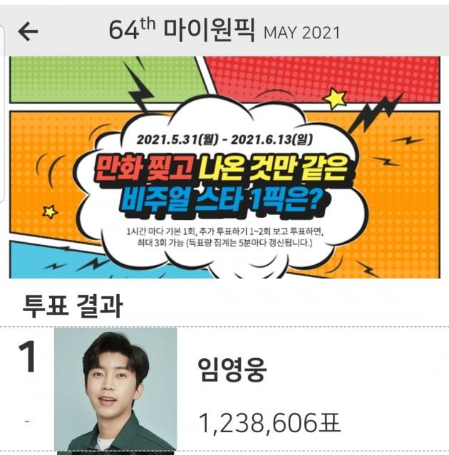 '감성장인' 임영웅...만화 찢고 나온 것만 같은 스타 1위 선정