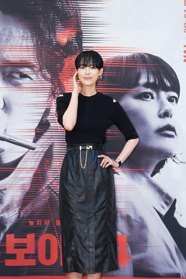 배우 이하나가 14일 오후 온라인 생중계된 tvN 새 금토드라마 '보이스4: 심판의 시간' 제작발표회에 참석했다. /사진제공=tvN