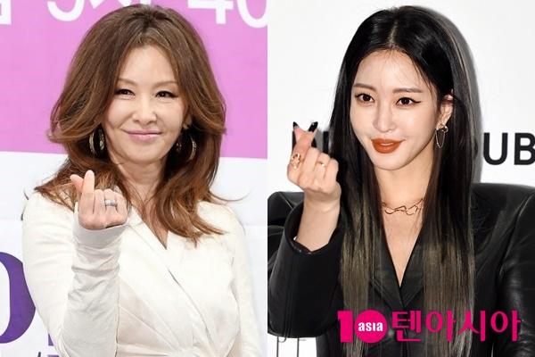 배우 이미숙(왼쪽)과 한예슬/ 사진=텐아시아DB