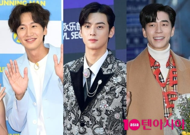배우 이광수(왼쪽부터), 차은우, 신성록/ 사진=텐아시아DB