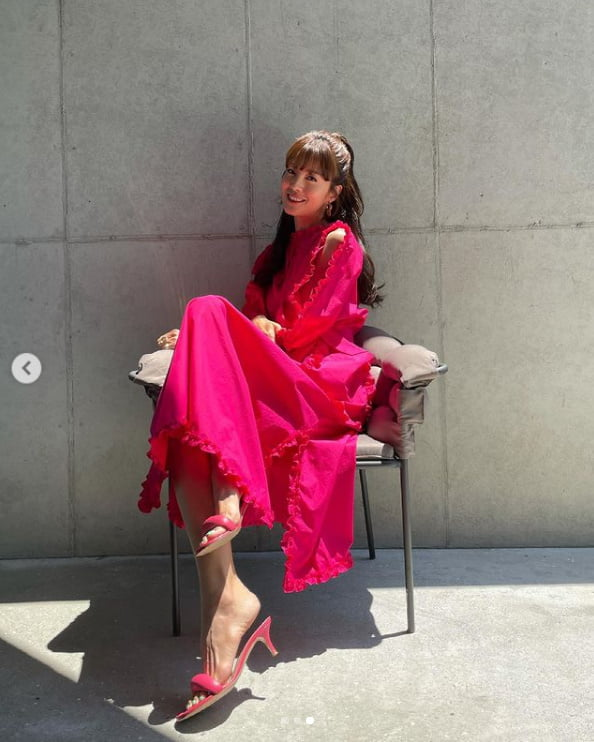 '49kg·애셋맘' 김성은, '정조국♥' 기다리는 핑크빛 미소[TEN★]