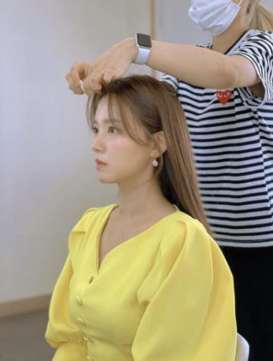'백도빈♥'정시아, 몸매라인 드러나는 원피스[TEN★]