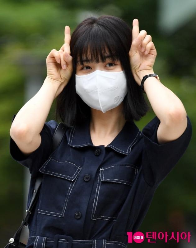 [TEN 포토] 박하선 '11시 요정 출근완료'