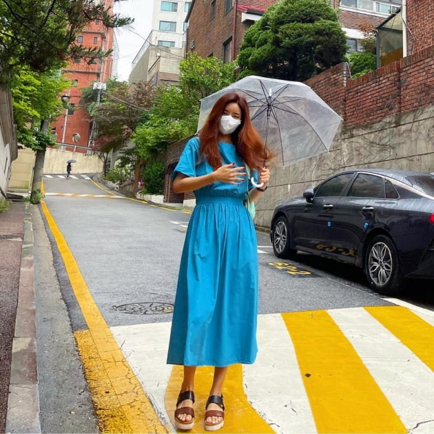 """'한재석♥' 박솔미, 등원룩 포토그래퍼는 딸 """"안 찍고 싶지만 일과"""" [TEN★]"""
