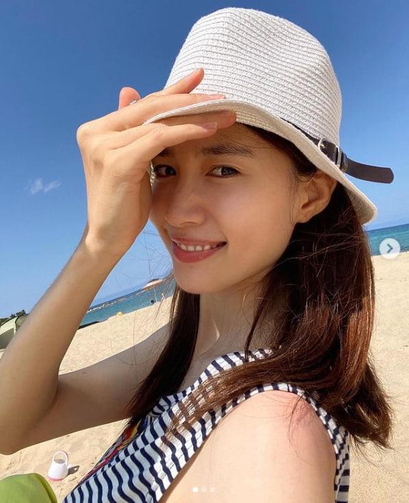 '남궁민♥' 진아름, 바캉스 즐기는 해변의 여인[TEN★]
