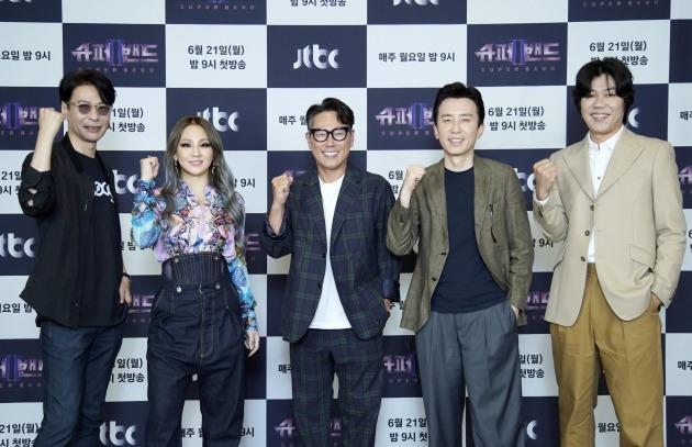 '슈퍼밴드2' 윤상(왼쪽부터), CL, 윤종신, 유희열, 이상순/ 사진=JTBC 제공