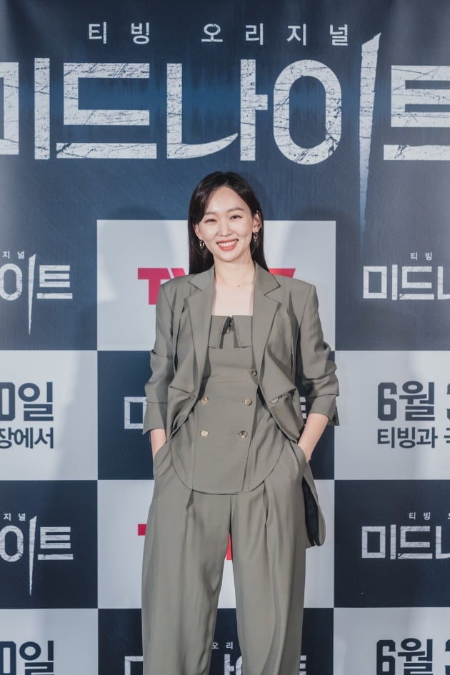 배우 진기주가 21일 열린 영화 '미드나이트' 언론시사회에 참석했다. / 사진제공=CJ ENM