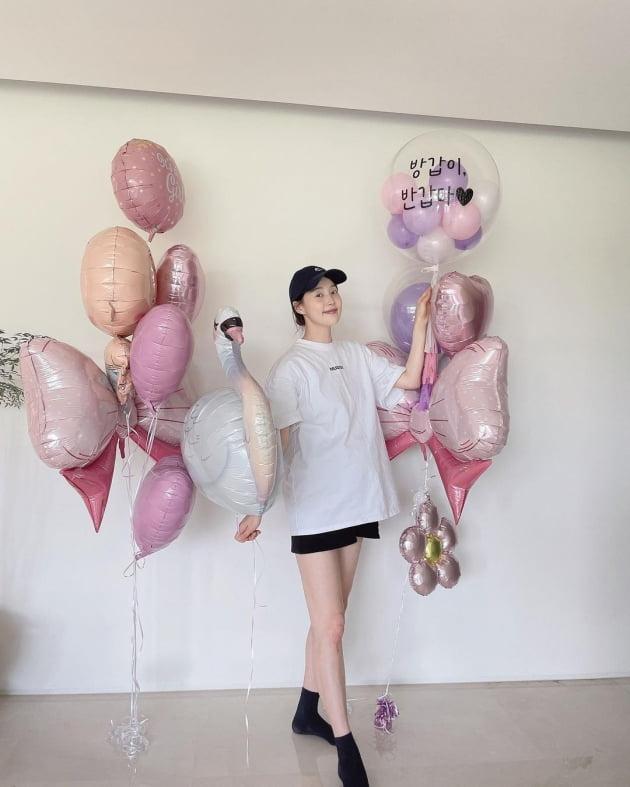 """'만삭' 한지혜, ♥검사남편 없이 출산 걱정 """"갑자기 아가 나올까봐"""" [TEN★]"""