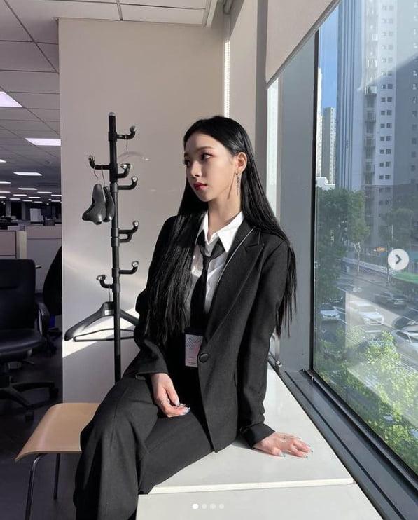 에스파 카리나, 예쁨을 넘은 우아함[TEN★]