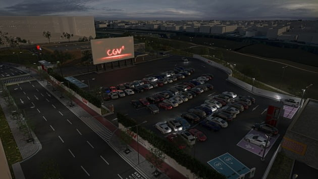 CGV의 첫 상설 자동차 극장 'CGV DRIVE IN 스퀘어원'이 오픈한다. / 사진제공=CGV