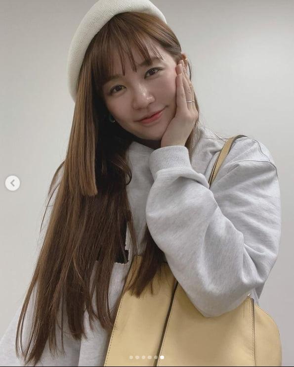 윤은혜, 화가인가 배우인가 빵모자가 못가린 꽃미모[TEN★]