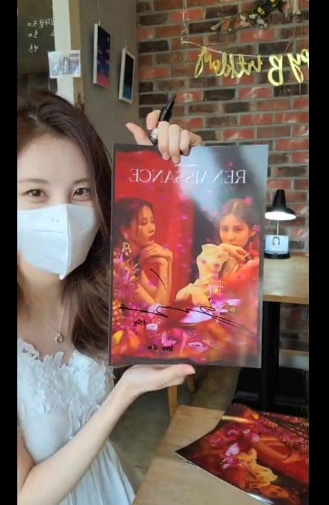 """서현, 팬들이 준비한 카페방문...""""surprise♥""""[TEN★]"""