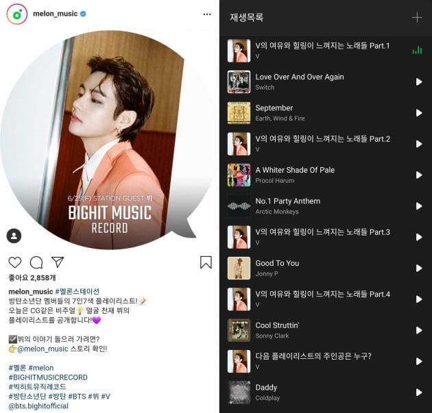방탄소년단 뷔, '재즈부터 알앤비까지' 취향 저격 폭넓은 플레이리스트 소개