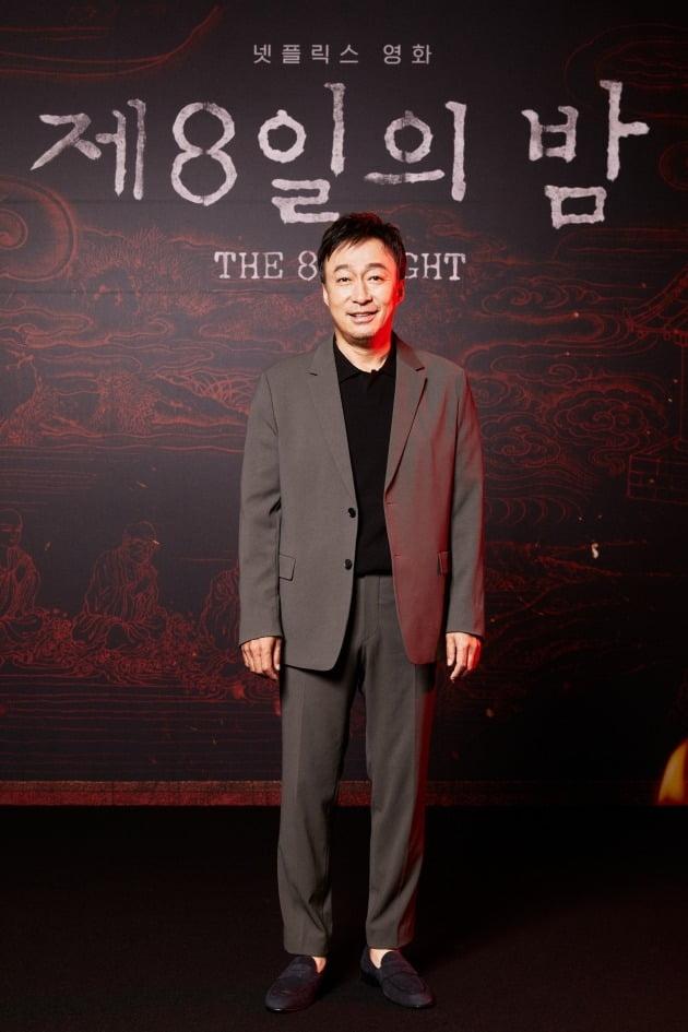 배우 이성민이 28일 열린 넷플릭스 영화 '제8일의 밤'의 온라인 제작보고회에 참석했다. / 사진제공=넷플릭스