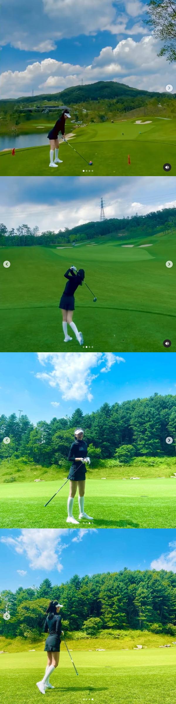 """'예비신부' 김윤지, 결혼 전 라운딩 중 """"골프는 제자리걸음"""" [TEN★]"""