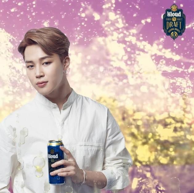 방탄소년단 지민, 청량감 넘치는 맥주 화보 공개
