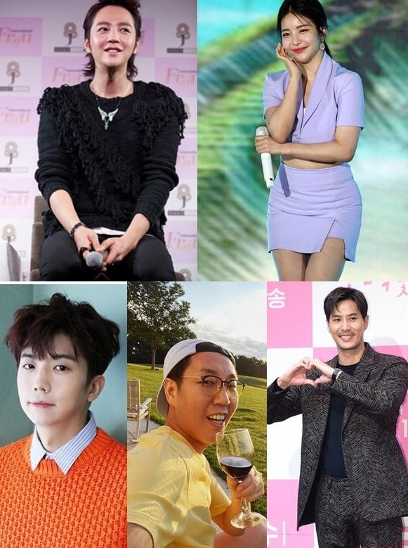 장근석(왼쪽부터 시계방향), 브레이브걸스 유정, 김지석, 김영철, 우영./