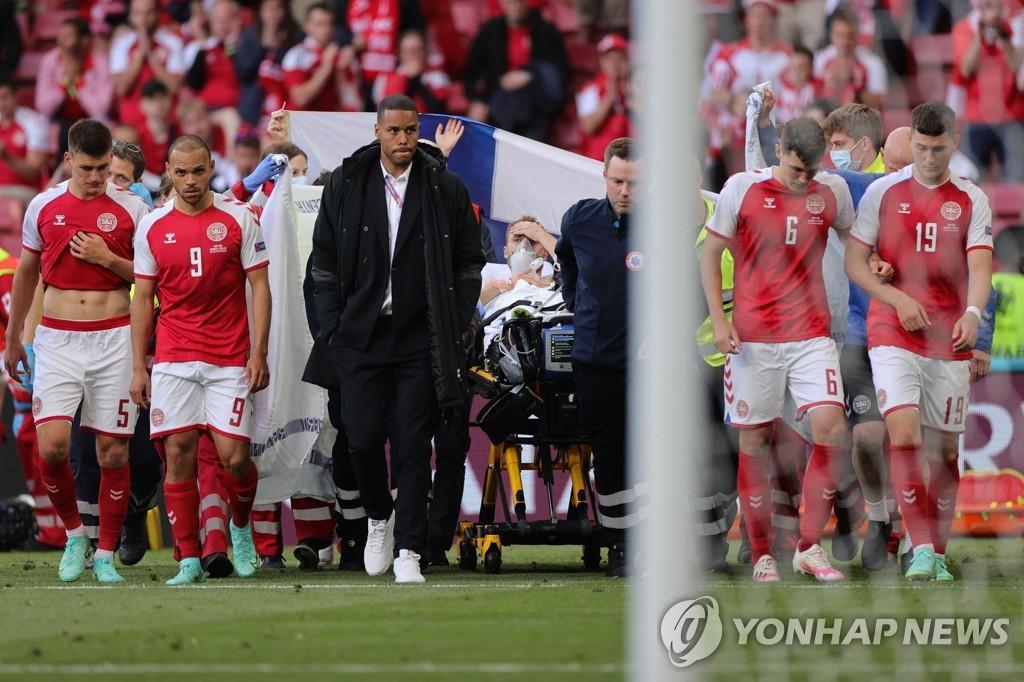 """덴마크 팀닥터 """"에릭센, 심장소생술 직전 사망 상태"""""""