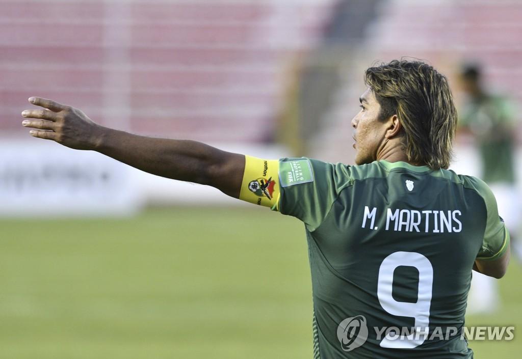 '코파 개최 비난' 볼리비아 축구선수에 출전정지·벌금 징계