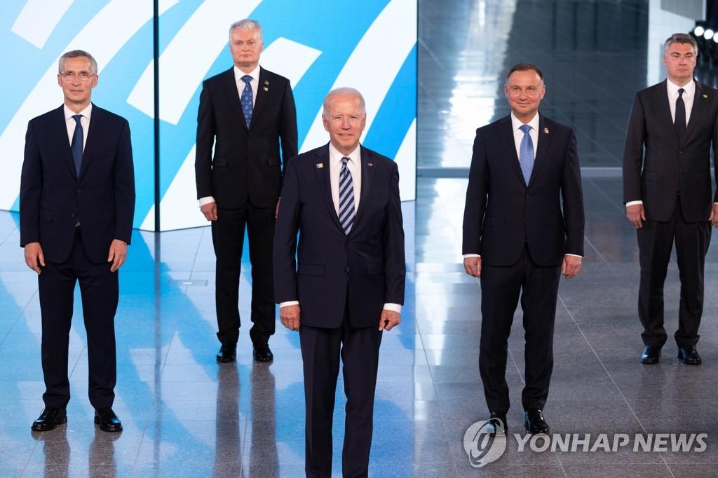 """나토 정상회의 """"북한 비핵화 목표 지지…미국과의 협상 촉구""""(종합)"""