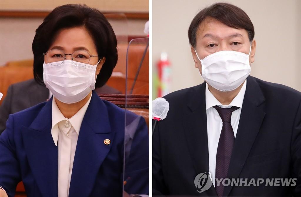"""추미애 """"윤석열은 검찰당 대선후보…지지율 허상"""""""