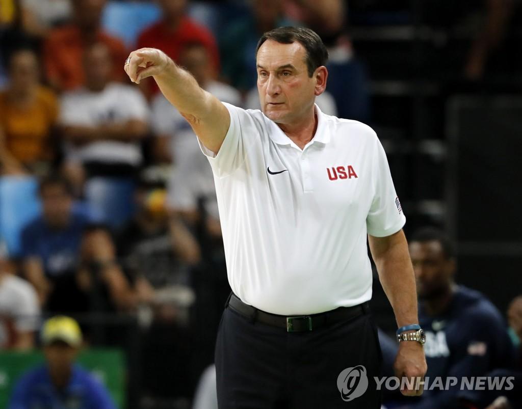 미국 유명 농구 감독 '코치 K', 듀크대 42년 지휘봉 내려놓는다