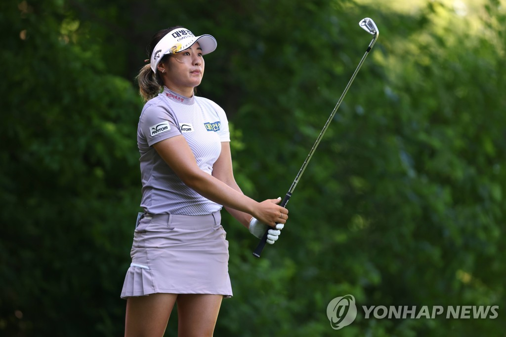 이정은, KPMG 여자 PGA 챔피언십 첫날 2타 차 공동 3위