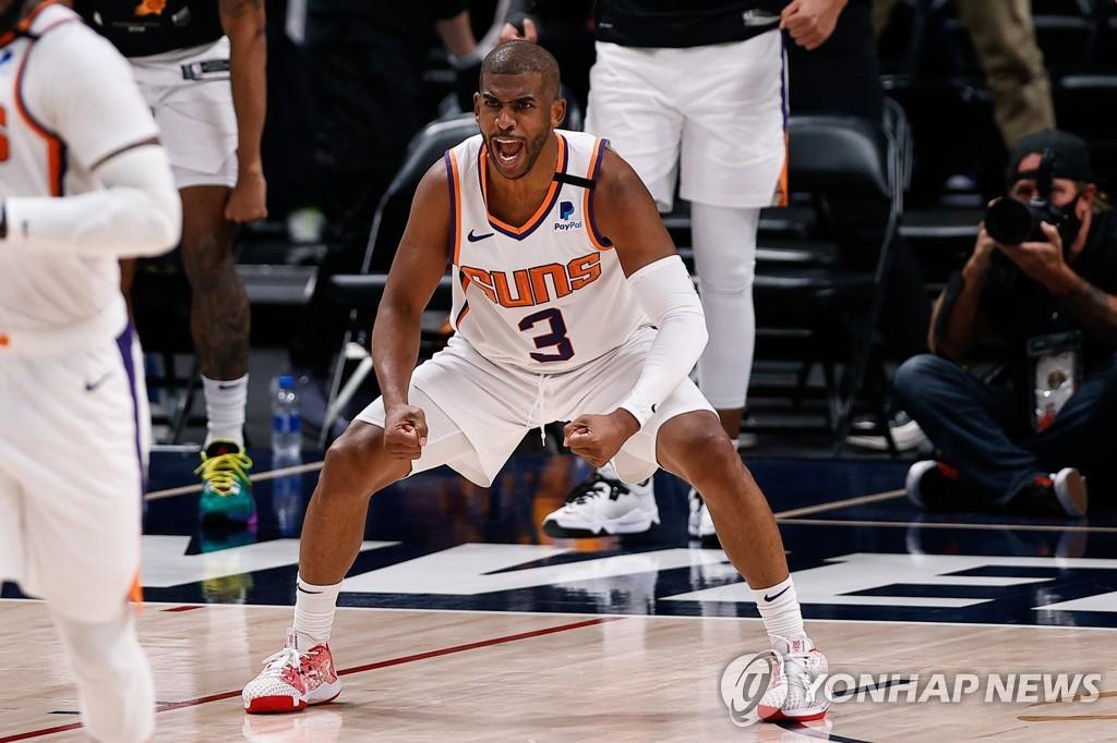 NBA 피닉스, PO 2라운드 4전 전승…11년 만에 서부 결승 진출