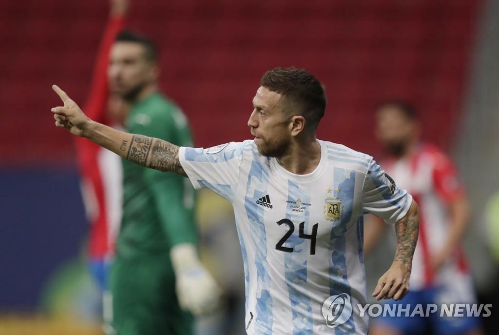 '고메스 결승골' 아르헨티나, 파라과이 잡고 코파 8강행(종합2보)