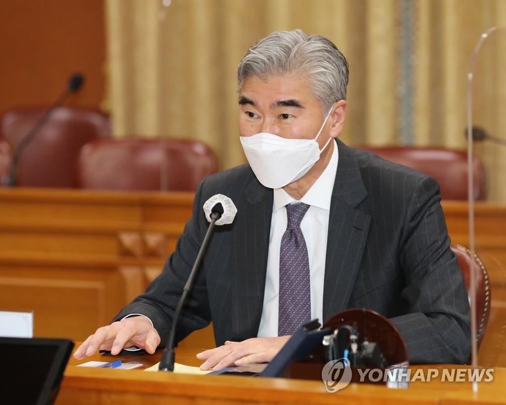 성 김 美대북대표 오늘 방한…김정은 '대미 입장' 반응 주목
