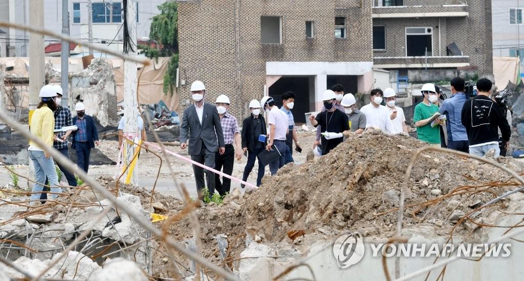 '시민 안전 위협' 광주 대규모 건설 현장 7곳 공사 중지