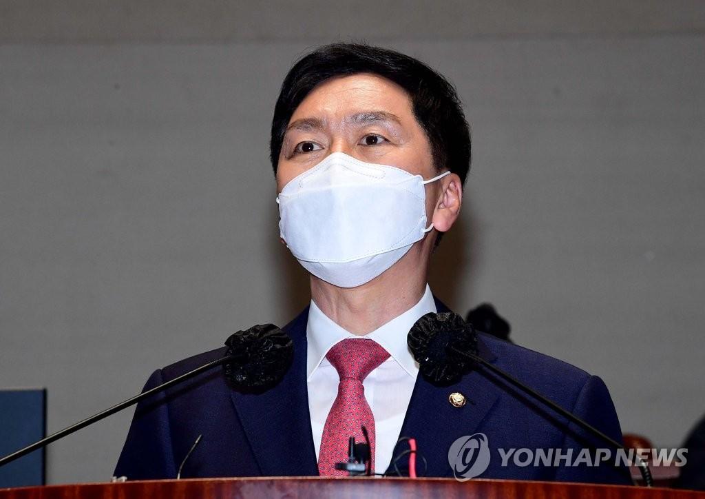 """김기현 """"X파일, 김대업 시즌2…與 공작정치 못된 버릇"""""""