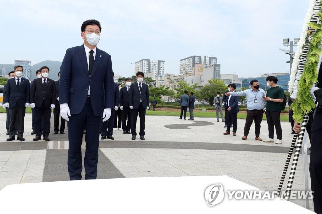 """송영길 """"의총, 경선연기 결정단위 아냐…잘 수렴하겠다"""""""