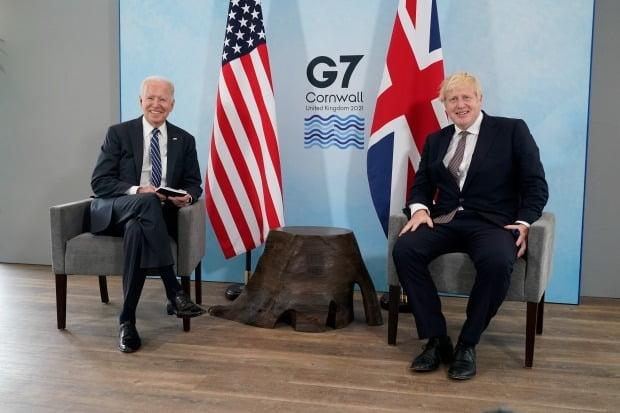 바이든 미국 대통령과 보리스 존슨 영국 총리 / 사진=연합뉴스