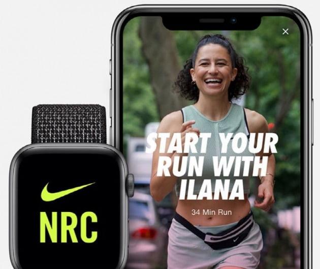 △(왼) 달리기 기록할 수 있는 앱 '나이키 런 클럽' / (오) 집에서도 전문적인 운동을 할 수 있도록 도와주는 '라이크핏'.