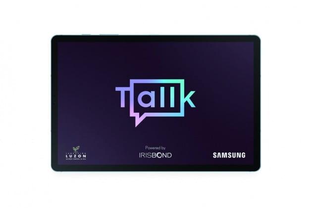 2년간 개발 끝에 탄생한 Tallk 삼성전자가 스페인에서 호환되는 태블릿PC에 시선 추적 기술을 적용해 만들었다. ALS 환자 35명이 참여해 기술적 완성도를 높였다.