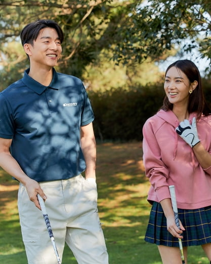 F&F의 아웃도어 브랜드 '디스커버리 익스페디션'은 최근 골프의류를 선보였다.
