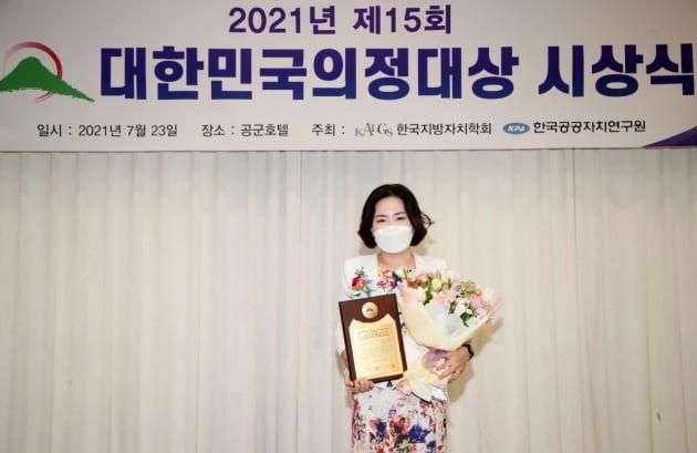 권정선(부천5)  경기도의회 교육행정위 도의원, 대한민국의정 대상 '최고 의원상' 수상