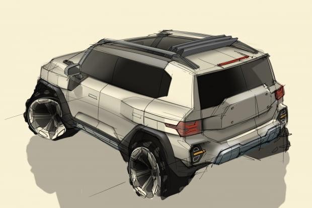 쌍용차 KR10 디자인 스케치. 사진=쌍용차