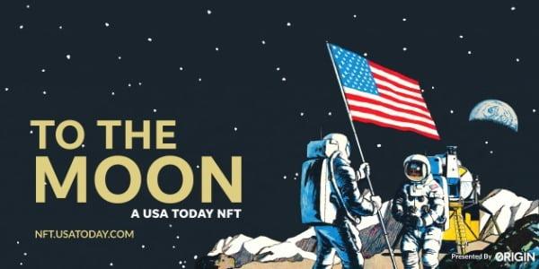 오리진프로토콜은 지난달 USA투데이와 '달에 배달된 최초의 뉴스'의 NFT 소유권을 경매에 부쳤다. 오리진프로토콜 제공