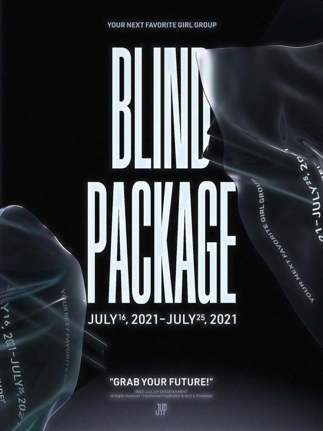 JYP 걸그룹 블라인드 패키지 포스터 /사진=JYP엔터테인먼트 제공