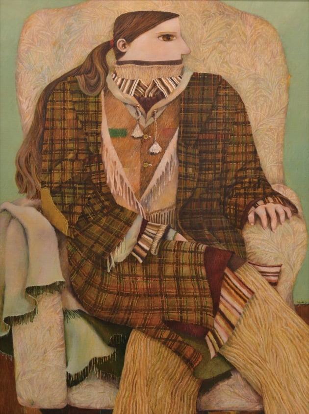 a layered woman, 캔버스에 유채, 72.7×100cm, 2021년