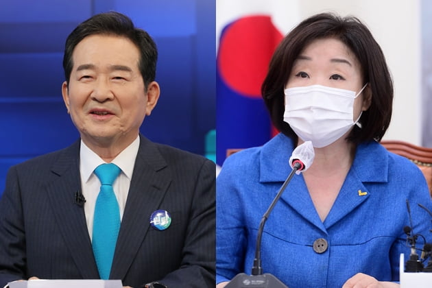 더불어민주당 정세균 대선경선 후보, 심상정 정의당 의원 /사진=연합뉴스