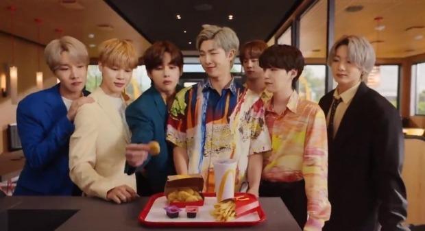 사진은 맥도날드의 'BTS 밀' 광고. 사진=맥도날드 트위터 캡처