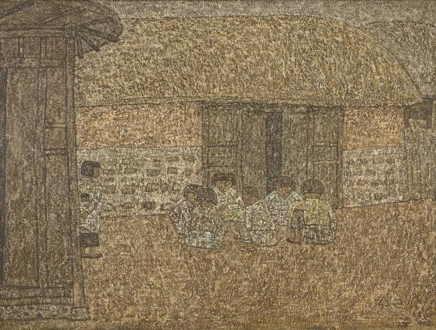 박수근, 유동, 1954, 캔버스에 유채, 130x97cm