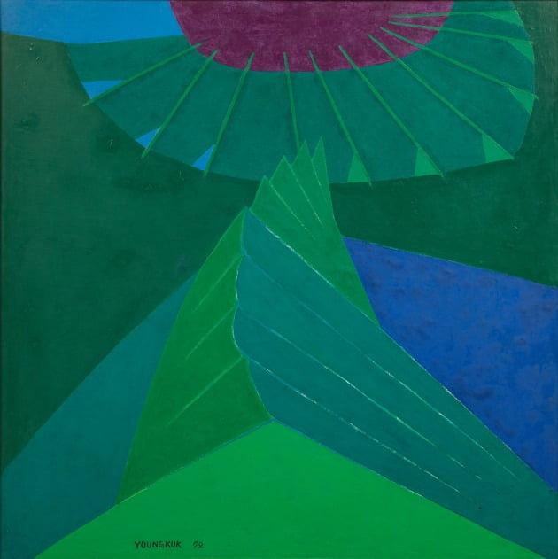 유영국, 작품, 1972, 캔버스에 유채, 133x133cm