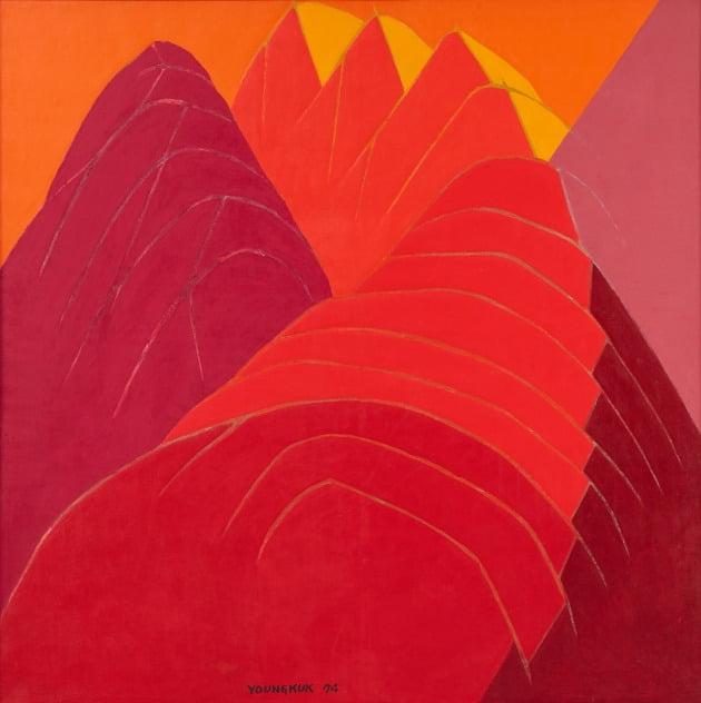 유영국, 작품, 1974, 캔버스에 유채, 136x1365cm