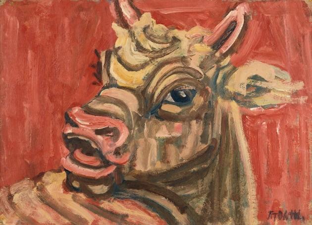 이중섭, 황소, 1950년대, 종이에 유채, 265x367cm